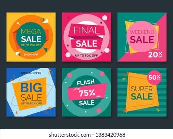 Sale web banner for social media. Vol.4