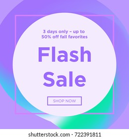Sale web banners template for special offers advertisement. Trendy colors in a modern material design style. New arrivals and final sale concept for internet stores promo. New arrivals web banners.
