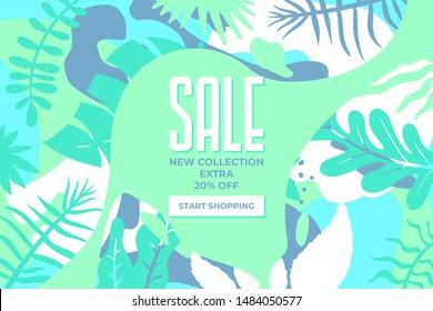 Werbebanner auf der Website verkaufen. Verkaufstag. Verkaufs Werbematerial, Vektorgrafik. Design für Social-Media-Banner, Poster
