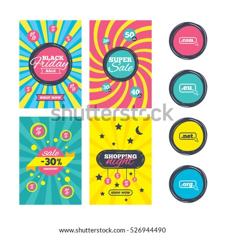 Sale Website Banner Templates Toplevel Internet Stock Vector