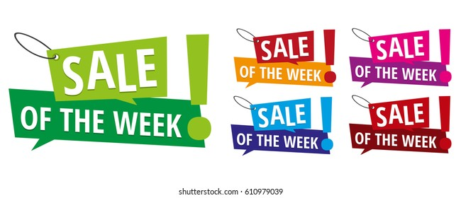 Sale of the week banner labels