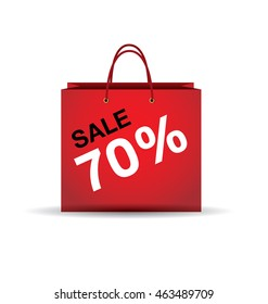 sale and woman shopping, vector illustration of fashion, percentage