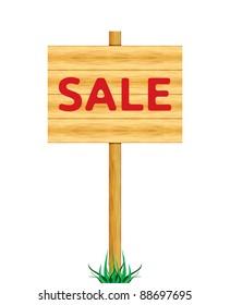 Sale wooden billboard