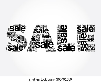 SALE Word, vector words cloud, business concept
