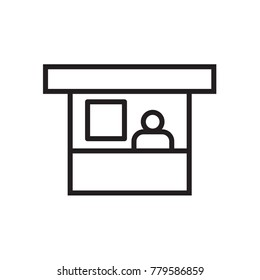 Sales booth icon in trendy flat style isolated on background. Sales booth icon page symbol for your web site design Sales booth icon logo, app, UI. Sales booth icon Vector illustration, EPS10.
