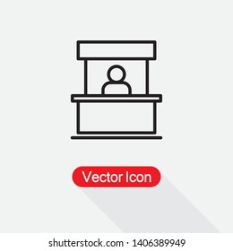 Sales Booth Icon Vector Illustration Eps10