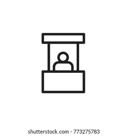 Booth Icon Vector Images, Stock Photos & Vectors | Shutterstock