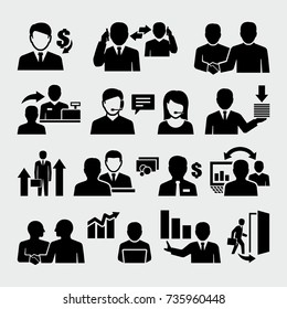 Sales Business People Vector Icons
