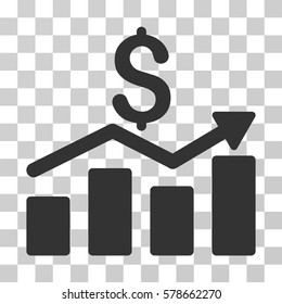 Sales Chart icon. Vector illustration style is flat iconic symbol, gray color, transparent background. Designed for web and software interfaces.