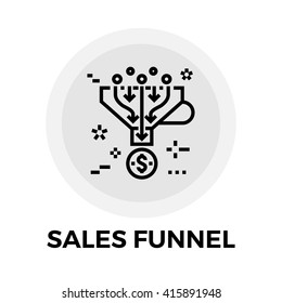 Sales Funnel icon vector. Flat icon isolated on the white background. Editable EPS file. Vector illustration.