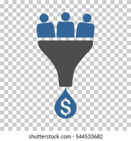 Sales Funnel icon. Vector pictogram style is a flat symbol, color, chess transparent background. Designed for software and web interface toolbars and menus.