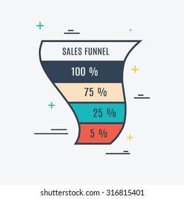 Sales Funnel Vector Eps10