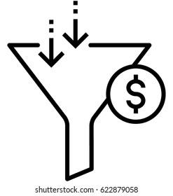 Sales Funnel Vector Icon