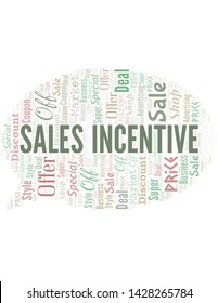 Sales Incentive Word Cloud. Wordcloud Made With Text.