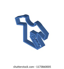 Sales isometric left top view 3D icon