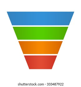 Sales lead funnel flat vector icon for presentation apps and websites