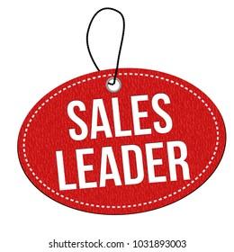 Sales leader label or price tag on white background, vector illustration