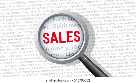 Sales Magnifying Glass