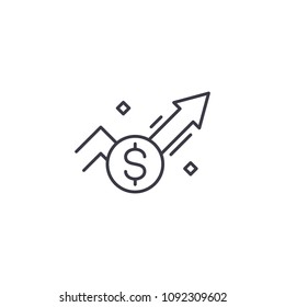 Sales marketing system linear icon concept. Sales marketing system line vector sign, symbol, illustration.
