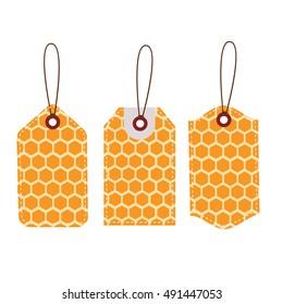 Sales price tag.Stickers honey comb design.vector illustrator.