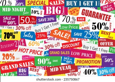 Sales Promotion for big discount in marketing and business concept
