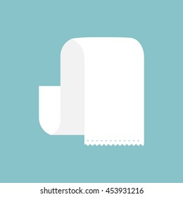 Sales receipt. The printed receipt. Bill atm template. Document. Empty, blank, long roll invoice paper bill