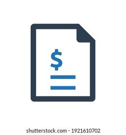 Sales report icon (Simple vector illustration)