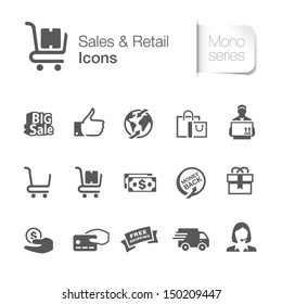 Sales & retail related icons.