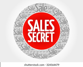 Sales Secret stamp vector words cloud, business concept background