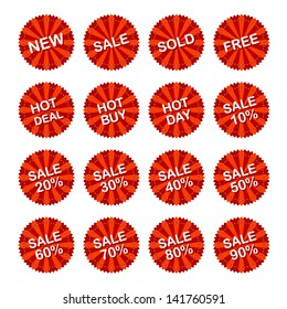 Sales Sticker Tag with Discounted Percentage