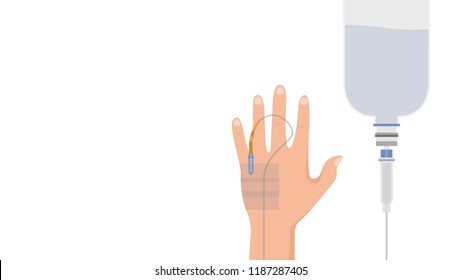 saline cartoon vector. free space for text.