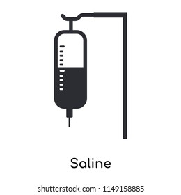 Saline icon vector isolated on white background for your web and mobile app design, Saline logo concept
