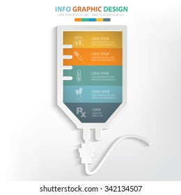 Saline info graphic design. Clean vector