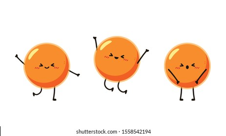 Salmon egg character. Salmon egg on white background. free space for text. copy space.
