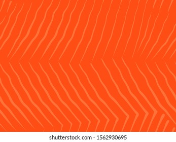 Salmon filet seamless vector texture. Repeating pattern for seafood design. The muscle tissue of the fish, cut off on both sides of the carcass. Soft red with a fiber texture of salmon or other fish.
