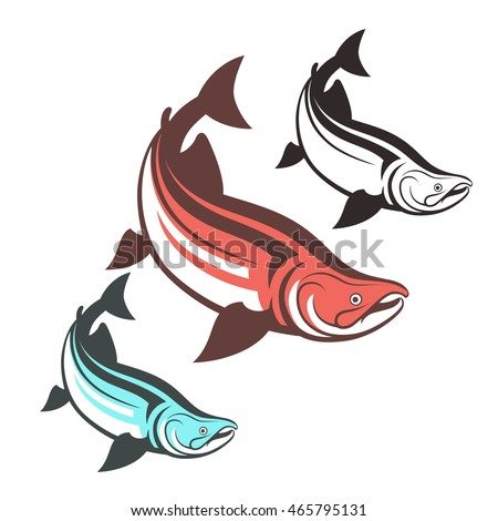 Salmon Fish Logo Template Vector Illustration Stock Vector Royalty