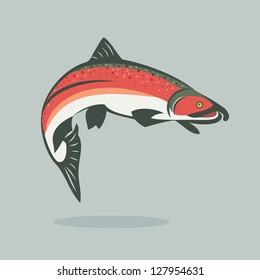 Salmon fish - vector illustration