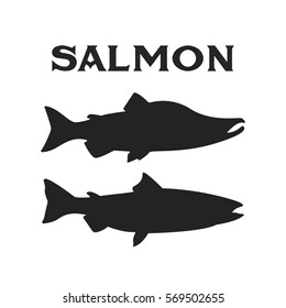 Salmon on vintage style for logo.