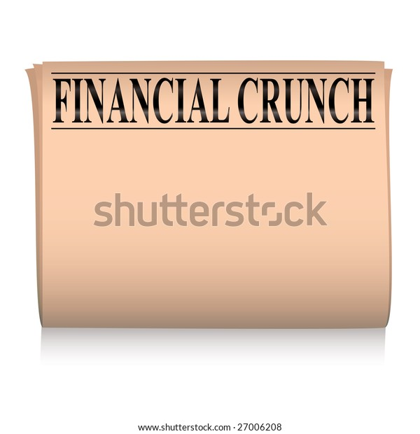 salmon pink financial newspaper with room to add your own text