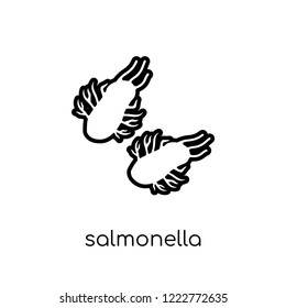 Salmonella icon. Trendy modern flat linear vector Salmonella icon on white background from thin line Diseases collection, editable outline stroke vector illustration
