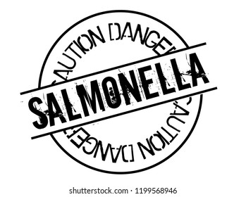 salmonella stamp on white background. Sign, label, sticker.