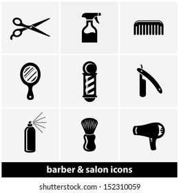 Salon & Barber Shop Icon Set