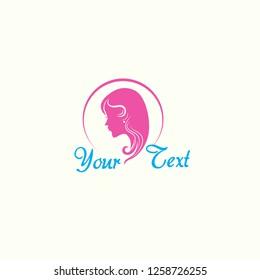 salon logo template vector