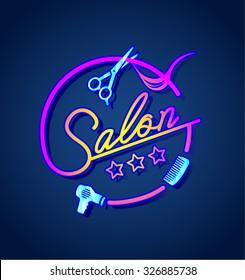 Salon neon sign