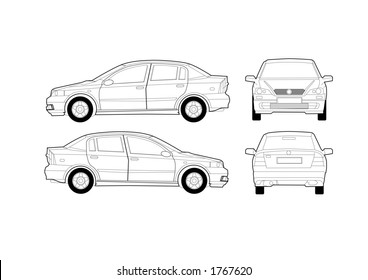 Saloon Car Diagram