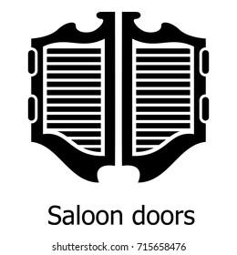 Saloon door icon. Simple illustration of saloon door vector icon for web