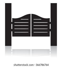 Saloon door silhouette