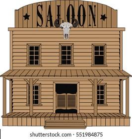 Saloon - Vector art