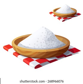 Salt isolated on white background. Detailed Vector Icon. Series of food and drink and ingredients for cooking.