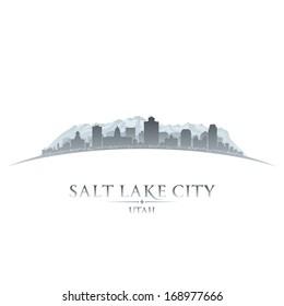 Salt Lake city Utah skyline silhouette. Vector illustration